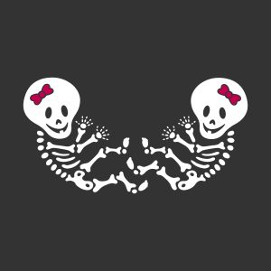 halloween maternity baby skeleton twins